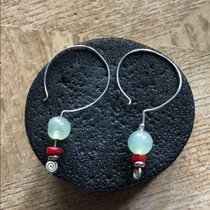 Jewelry - Earrings sterling silver and stone 💕